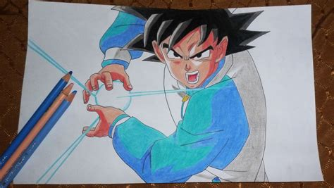 imagenes goku haciendo kamehameha dibujo de goku kame hame ha arte taringa