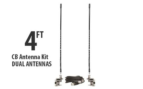 four foot cb antenna kit dual antenna kit