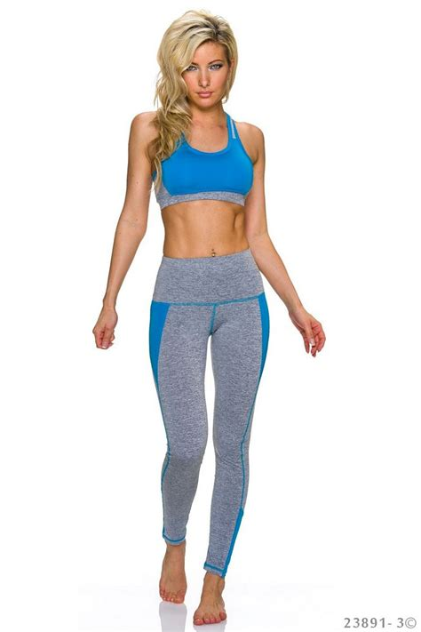 Set Leging fashion e shop set with top grey blue
