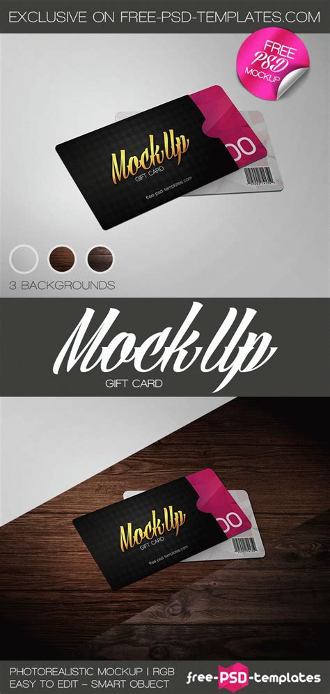 reward cards template mockup free gift card mock up in psd free psd templates