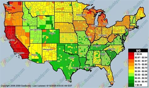 gas price map usa usa map