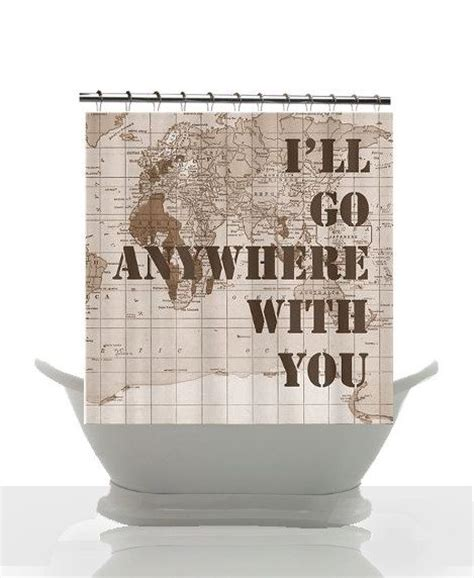 military bathroom decor vintage map shower curtain military family quote