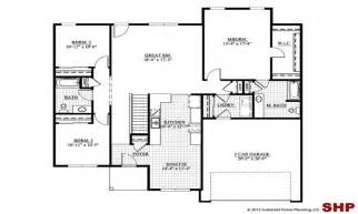 ranch house plans garage one story bungalow with edesignsplans