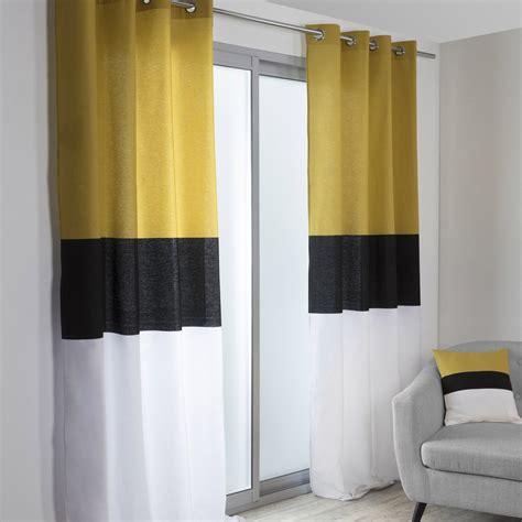 Rideau Noir Et Blanc by Rideau Tamisant Yellow Noir Blanc Et Jaune L 140 X H