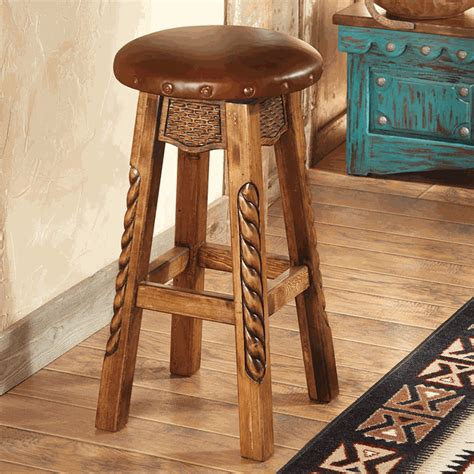 Red Wall Sconces Carved Wood Roper Bar Stool Bar Height