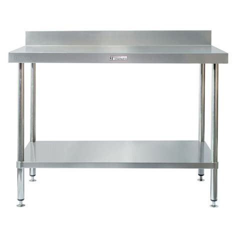 stainless steel bench simply stainless s steel bench with splashback 2100mm