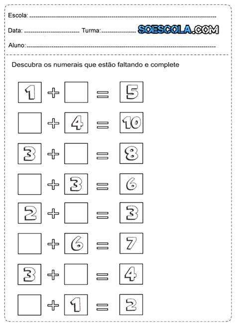 Atividades de Matemática de Adição - 1º Ano do Ensino