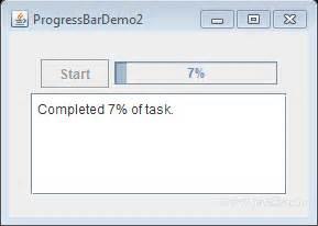 progress bar swing java tutorial use jprogressbar and swingworker in java