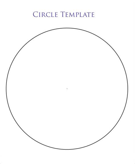 printable 9 inch circle template choice image templates
