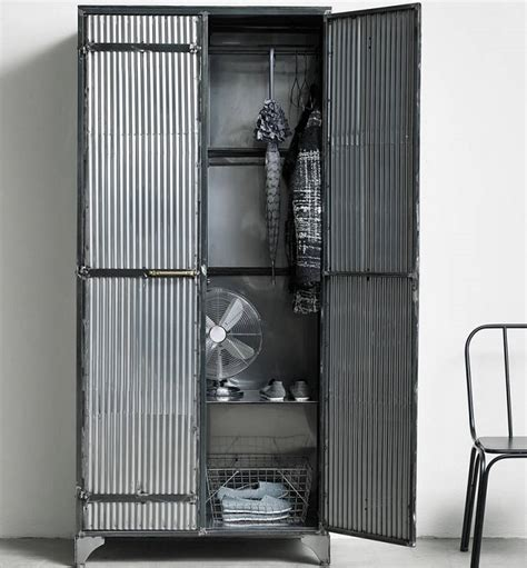 Iron Wardrobe by Bold Industrial Bedroom Furniture Ideas Homegirl
