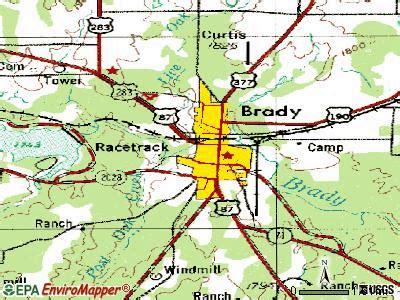 brady tx 76825 76858 profile population maps