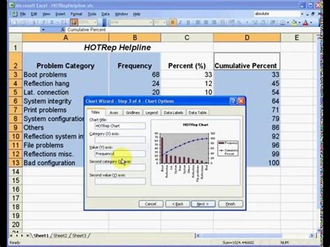 how to create a pareto chart in excel 2003 how to