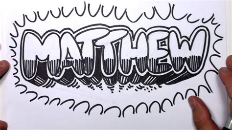 Graffiti Words To Draw How To Draw Graffiti Letters Write Matthew In