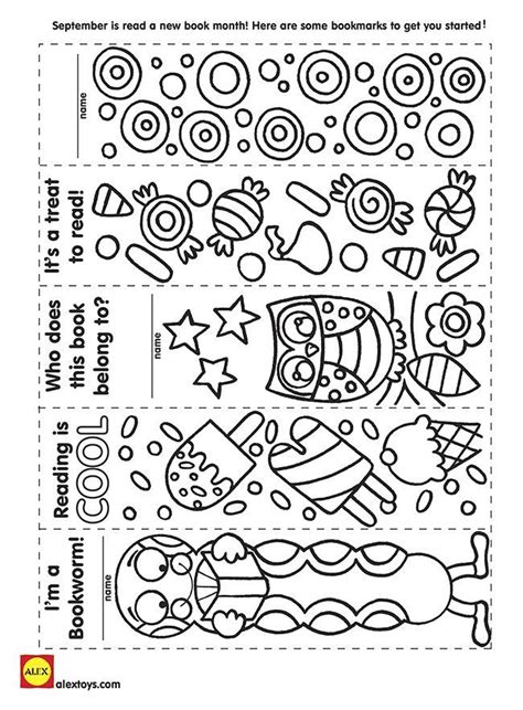 printable autumn bookmarks to color fall coloring bookmarks coloring page