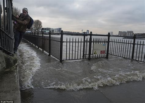 thames barrier london flooding parts of london under water after the river thames bursts