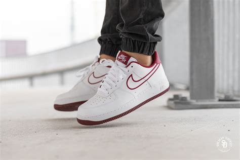 nike air force   leather whiteteam red aj