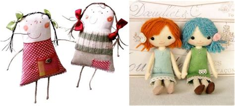 How To Make Handmade Dolls - mollymoocrafts my favourite handmade softies and dolls