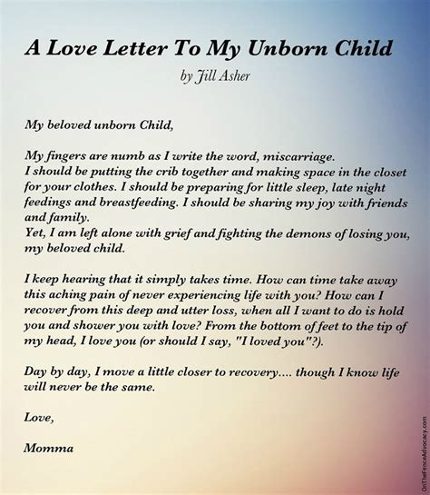Letters To Child