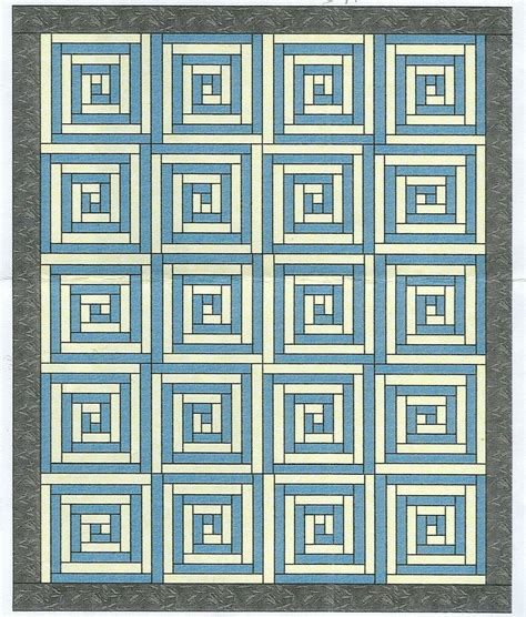 greek key pattern greek key quilt instructions log cabin pinterest