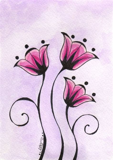 easy floral designs best 25 simple flower drawing ideas on pinterest easy