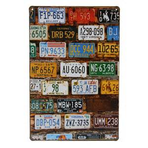 car plate tin sign vintage metal plaque pub bar home wall dctop sport racing car home decor wall stickers kids