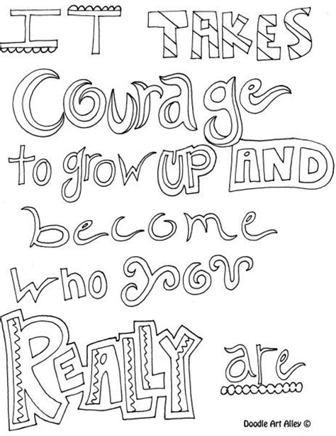 printable doodle quotes doodle coloring pages with quotes inspirational words