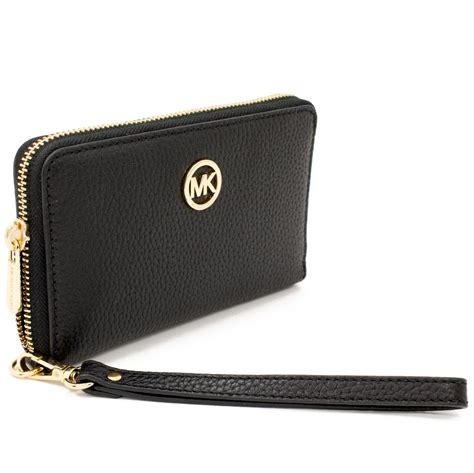 Michael Kors Fulton Wallet spreesuki michael kors fulton multifunction leather wallet phone black 35h5gfte3l