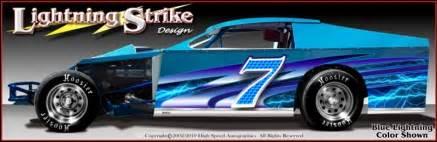 Lightning Car Graphics Dirt Modified Graphics Modified Race Car Wraps Race