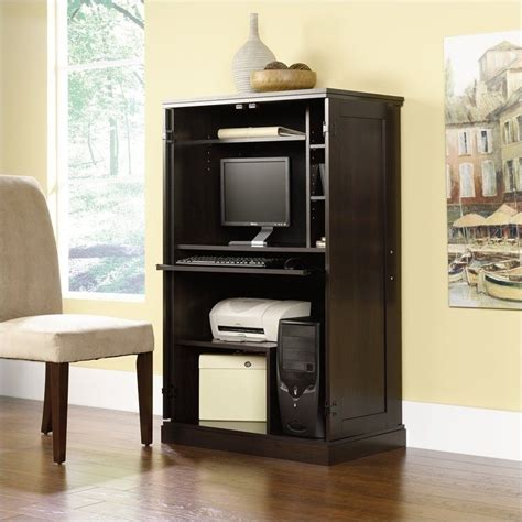 Sauder Computer Armoire Cinnamon Cherry by Select Cinnamon Cherry Computer Armoire 411614