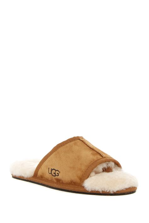 toe slippers ugg mellie open toe genuine sheepskin slipper lyst