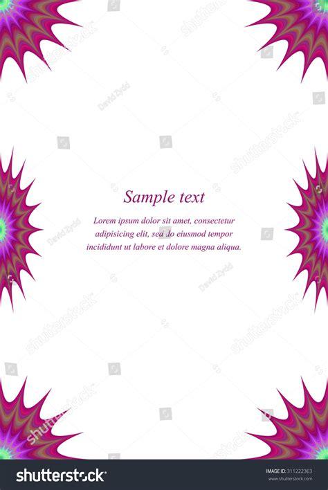 Invitation Letter Format For Paper Presentation Color Page Corner Design Template Invitation Stock Vector 311222363