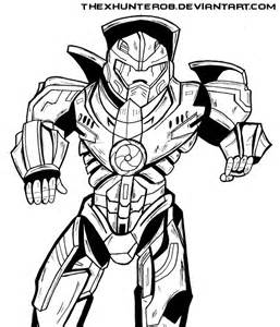 pacific rim gipsy danger lineart by thexhunter08 on