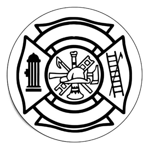 Fire Department Maltese Cross Clipart Best Department Coloring Pages