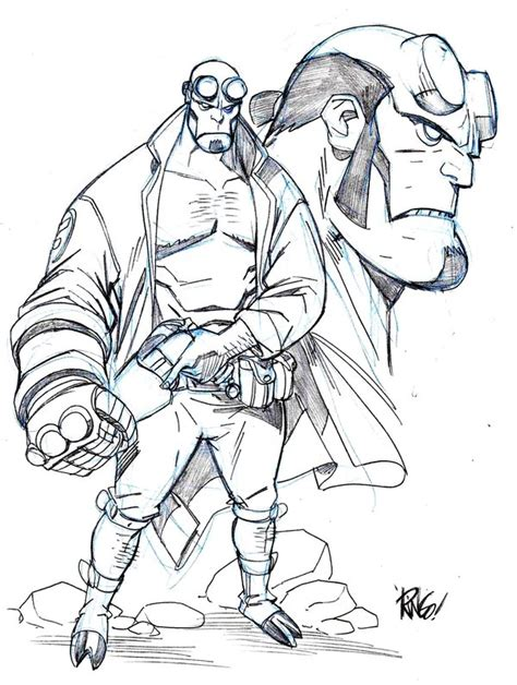 Hellboy Coloring Pages hellboy by wieringo on deviantart