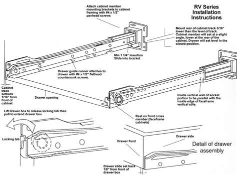 Drawer Slide Installation by Drawer Slides Drawer Slide Installation