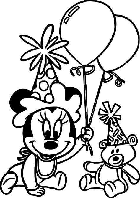 baby minnie mouse birthday coloring pages minnie mouse printable coloring sheet coloring pages