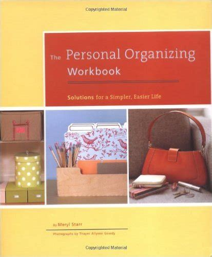 Home Organizing Workbook organize your with these 8 books career