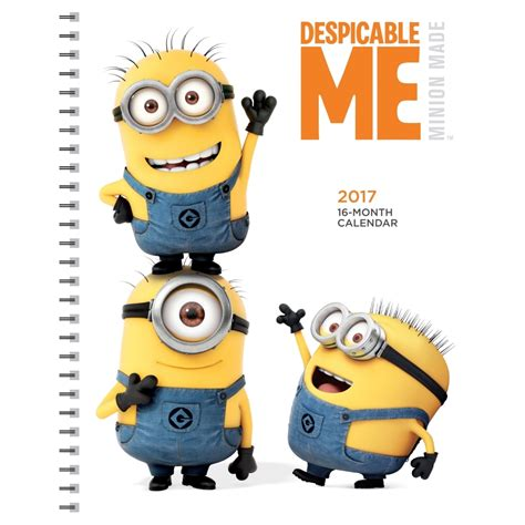 minion desk calendar 2018 despicable me 2017 engagement planner 9781620216156