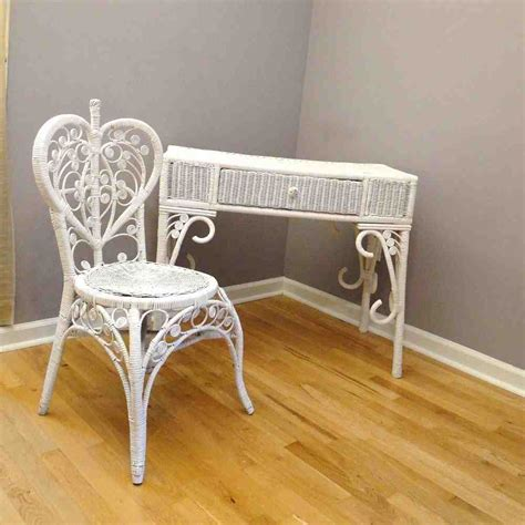 white wicker desk chair home furniture design