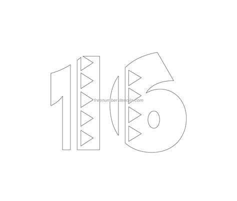 number 16 template free mexican 16 number stencil freenumberstencils