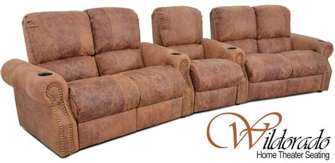 Theatre Style Couches by Wildorado Home Theater The Leather Sofa Company