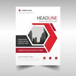free corporate brochure templates corporate brochure with hexagonal shapes vector free