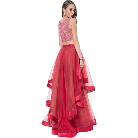 Top Dress terani couture 0986 prom crop top dress gown bhfo