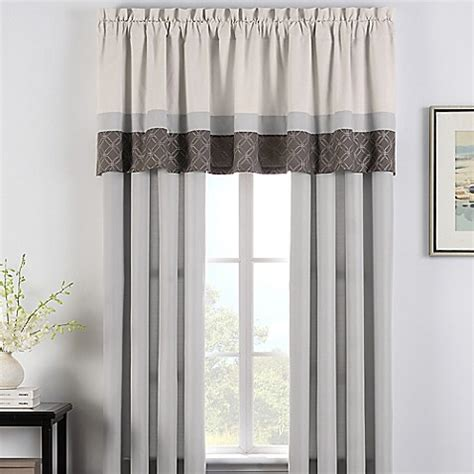 bed bath and beyond bathroom window curtains cortez window curtain panel pair and valance bed bath