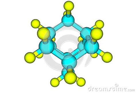 adamantane molecular model isolated  white stock