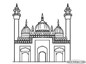 Pics Photos  Mosque Coloring Page Free Online sketch template