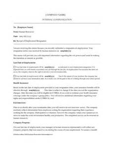 Resignation Of Employment Letter by Employment Resignation Letter Template And Sles Vntask