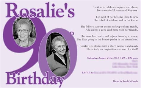 Nice 90th Birthday Invitations Ideas Download This Invitation For Free At Http Www Bagvania 90th Birthday Invitations Templates Free