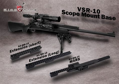 King Arms M700 Extension Mount Base king arms vsr 10 scope mount base popular airsoft