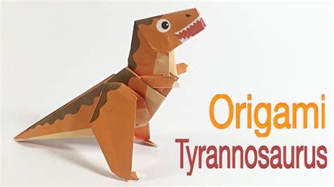 tutorial origami t rex tyrannosaurus rex t rex tutorial easy dinosaur origami